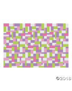 Pastel Colour Brick Party Backdrop