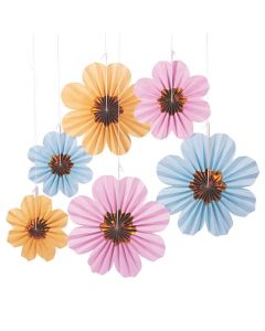 Pastel Daisy Hanging Fans
