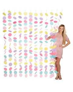 Pastel Macaron Paper Circles Backdrop Curtain