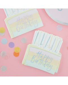 Pastel Party - Birthday Cake Paper Napkins