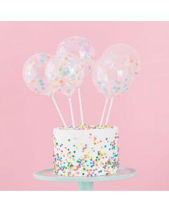 Pastel Party - Mini Cake Topper Confetti Balloon Kit