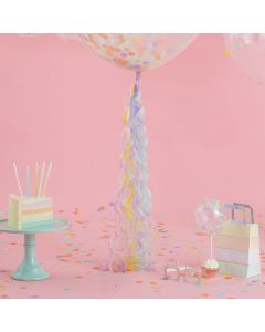 Pastel Party - Pastel Coloured Balloon Tail Decoration