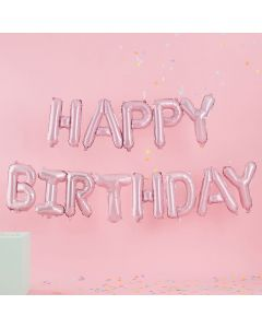 Pastel Party - Pink Happy Birthday Letter Balloons