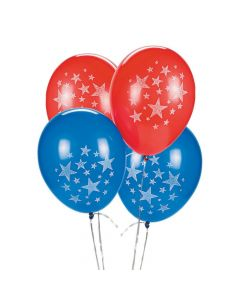 "Patriotic 11"" Latex Balloons"