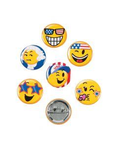 Patriotic Emoji Mini Buttons