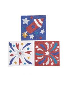 Patriotic Glitter Art Pictures
