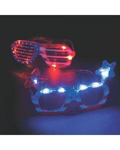 Patriotic Light-Up Glasses