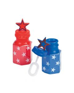 Patriotic Star Bubble Bottles