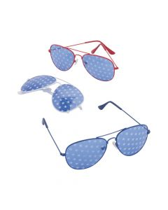 Patriotic Star-Spangled Aviator Sunglasses