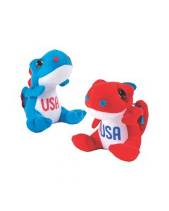 Patriotic Stuffed Dinosaurs