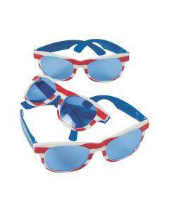 Patriotic Sunglasses with Blue Lenses