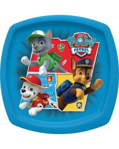 Paw Patrol Canine Rescue Square Shaped Plate