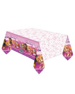 Paw Patrol Pink Plastic Tablecover