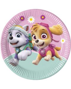 Paw Patrol Skye and Everest Paper Plates