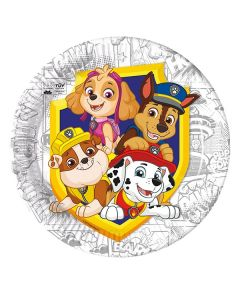 Paw Patrol Yelp for Action Paper Plates Large - Eco Friendly