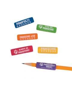 Paw Print Pencil Grips