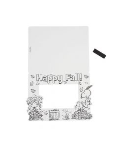 Peanuts Color Your Own Fall Picture Frame Magnets