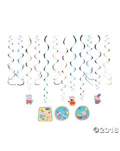 Peppa Pig Hanging Swirl Decorations