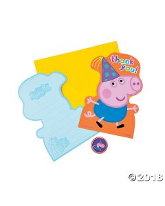 Peppa Pig Thank You Cards
