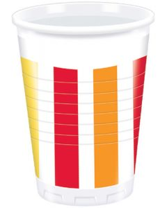 Pepper Stripes Plastic Cup