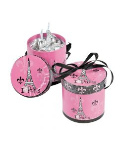 Perfectly Paris Hat Favor Boxes