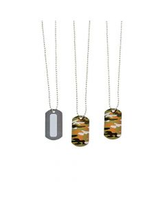 Personalized Camouflage Dog Tag Necklaces