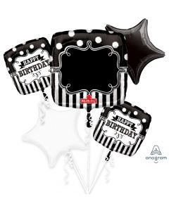 Personalized Chalkboard Birthday Party Balloon Bouquet