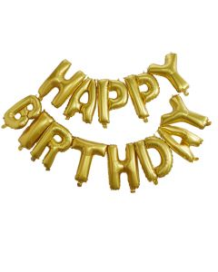 Pick & Mix Happy Birthday Balloon Bunting - Gold