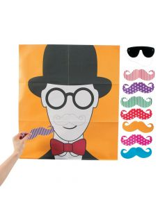 Pin the Flashy Stache Game