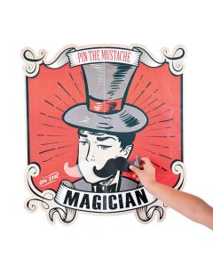 Pin the Mustache on the Magician Game