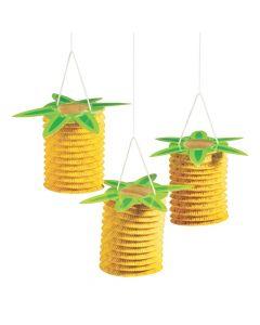 Pineapple Accordian Hanging Paper Lanterns