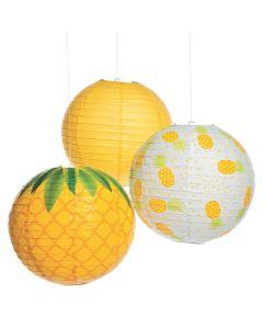 Pineapple Hanging Paper Lanterns