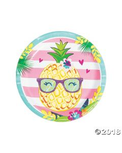Pineapple 'n Friends Paper Dinner Plates