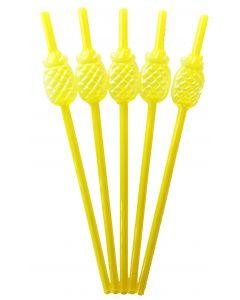 Pineapple Plastic Straws 5'S