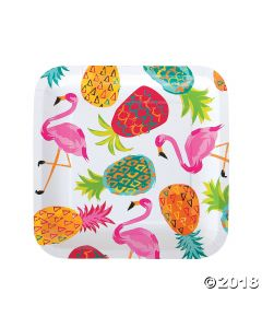 Pineapple Square Paper Lunch Plate