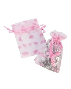 Pink Girl's Baby Shower Organza Bags
