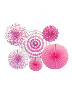 Pink Party Double Sided Party Fan