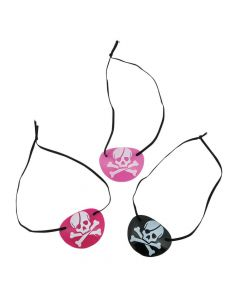 Pink Pirate Eye Patches