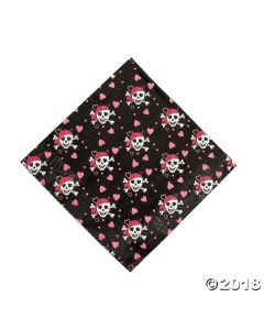 Pink Pirate Girl Lunch Napkins