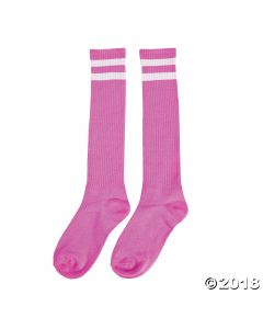 Pink Team Spirit Knee-high Socks
