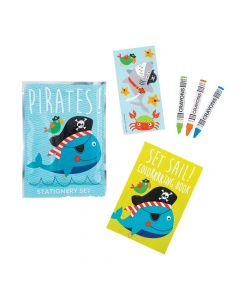 Pirate Animals Stationery Sets