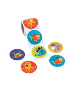Pirate Animals Sticker Rolls