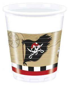 Pirate Treasure Map Plastic Cups