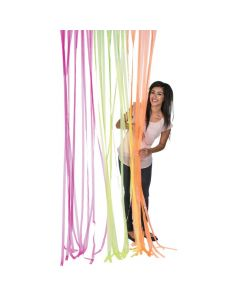 Plastic Neon Fringe Curtain