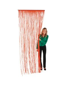 Plastic Orange Fringe Door Curtain