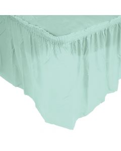 Pleated Mint Green Table Skirt