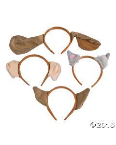 Plush Puppy Ear Headbands Assortment