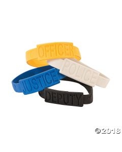 Police Party Rubber Bracelets