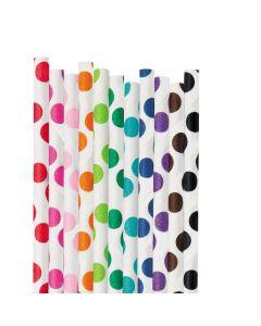 Polka Dot Paper Straws
