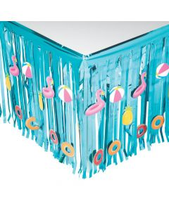 Pool Party Fringe Table Skirt